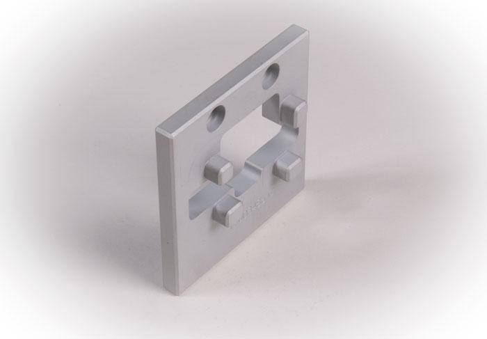 Prototyp tillverkad i aluminium samt eloxerad